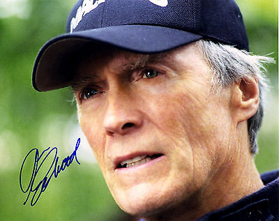 """Clint Eastwood 8x10 Signed Autograph Reprint """"Mint"""" {FREE SHIPPING} 04"""