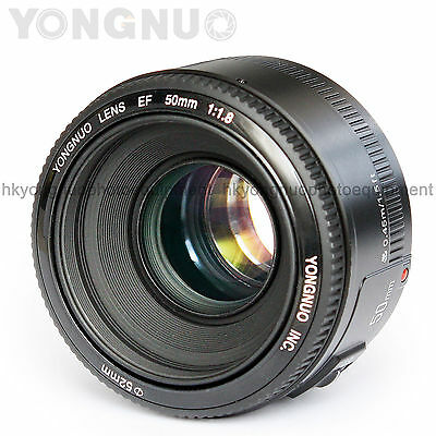 Yongnuo EF 50mm F/1.8 AF/ MF Standard Prime Lens same as Canon EF 50mm F/1.8 II