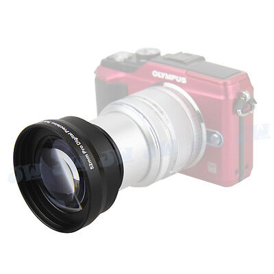 52mm 2x HD telephoto zoom lens For OLYMPUS EPL-1 2 3 5 E-P3 EPM 1 2 +14-42MM