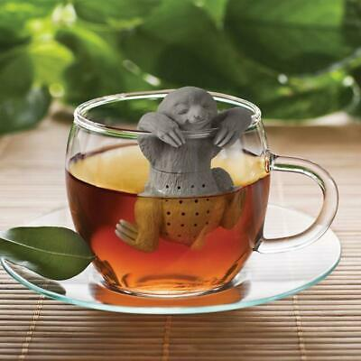 Slow Brew Sloth Tea Strainer & Infuser - Infuse Diffuse Leaves Fred Silicone Sil
