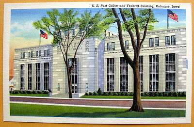 Vintage - US Post Office and Federal Building, Dubuque, Iowa - unused