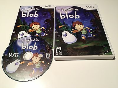 A Boy and His Blob Wii 2009 US NTSC English Version Complete Excellent Disc B2