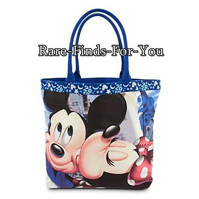 Disney Theme Parks 2015 Mickey and Minnie Mouse Kiss Tote Shoulder Bag (NEW)