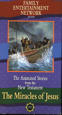 The Miracles of Jesus - The Animated Stories From the New Testament  (VHS, 1990)