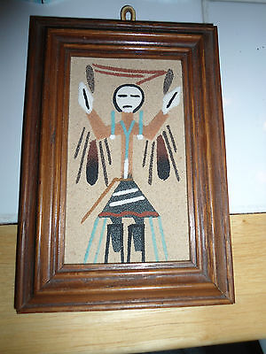 NAVAJO SANDPAINTING BY P. JOHNSON OF SOUTHWEST UNITED STATES NEW MEXICO