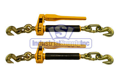"""2pk - 5/16""""-3/8"""" Tow Chain Ratchet Load Binder"""