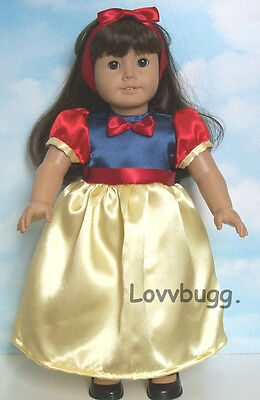 Snow White Halloween Costume Doll Clothes fits American Girl Widest Selection!