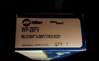 Miller( Weld Craft )torch body control wp 26fv { GREAT DEAL} new unopened boxes