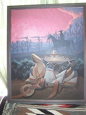 Native American Orginal Oil Painting by Navajo Artist Fred Cleveland