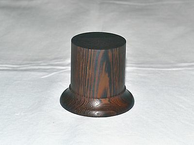 high quality round  base of wenge wood,for bust and figures 54mm.