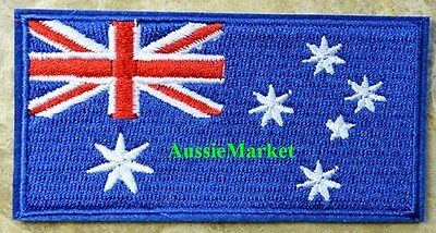 1 x australia flag patch patches aussie iron sew on craft shirt clothes sewing