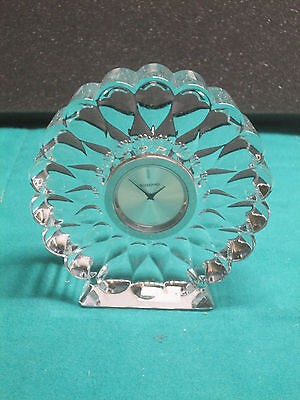"Waterford Desk Clock fine Irish crystal Presage 4""tall new perfect condition"
