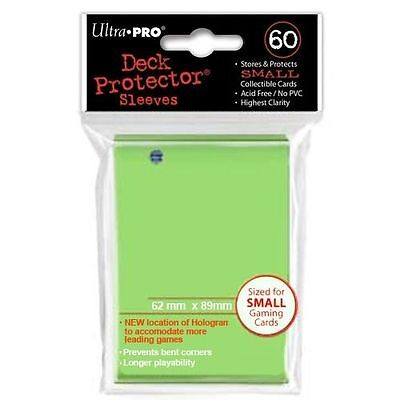 60 ULTRA PRO SMALL LIME GREEN DECK PROTECTORS SLEEVES Yugioh Vanguard