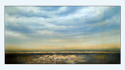 hand painted Abstract Landscape oil painting canvas Modern decor art sky Cloud