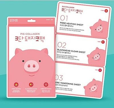 MEFACTORY Pig Collagen 3Step Nose Blackhead Clear Patch 5sheets