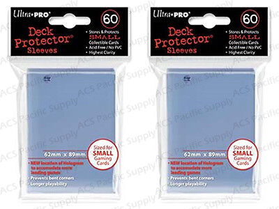 120 ULTRA PRO SMALL CLEAR DECK PROTECTORS SLEEVES Yugioh Vanguard