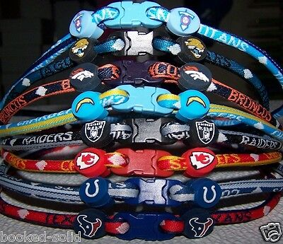 NFL titanium Ionic team necklaces most teams available pick yours FREE SHIPPING