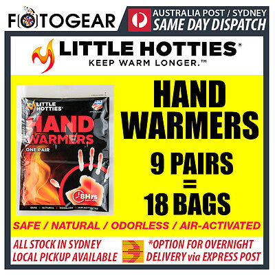 Little Hotties Hand Warmers 9 Pairs Heat Pack 8 Hours Warmer Sport Hot Socks New
