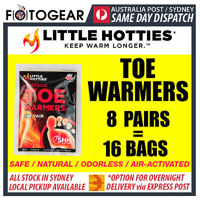 Little Hotties Toe Warmers 8 Pairs Heat Pack 8 Hours Warmer Sport Hot Socks New