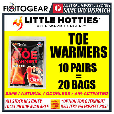 Little Hotties Toe Warmers 10 Pairs Heat Pack 8 Hours Warmer Sport Hot Socks New