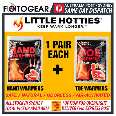 Little Hotties Hand Warmers + Toe Warmers 1 Pair Each Heat Hot Pack Ski