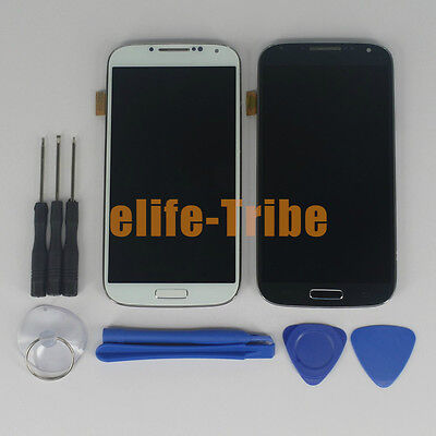 LCD Display Touch Screen Assembly with Frame for Samsung Galaxy S4 i9505 + Tools