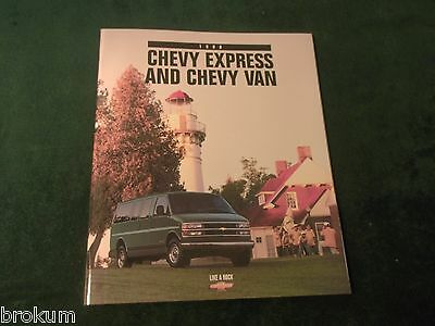Mint Chevrolet 1998 Chevy Express And Van 24 Page Sales Brochure New (466)