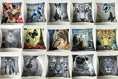 """Printed Velvet Micro Mink Cushion Cover Pillowcase Size 18x18"""" Animated Cover"""