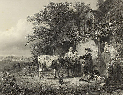 The Cow-Doctor  - Tschaggeny, Stich C. Cousen, 1860