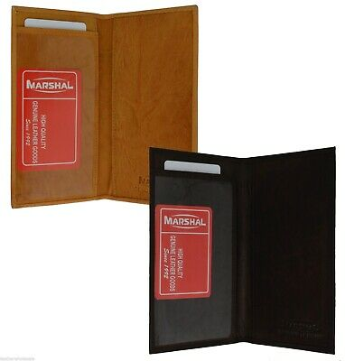 Checkbook Cover Plain Set Of 2 Tan Brown Genuine Leather New Great Gift Idea 1