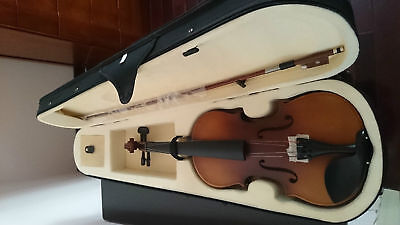 Student Acoustic Violin Full 4/4 Maple Spruce with Case Bow Rosin Classical