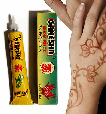 ***NEW*** Henna Mehndi Paste Tube and nozzle, Instantly ready to use   tz