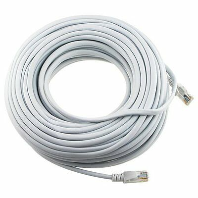 2 Pack WHITE 50 FT 15M RJ45 CAT5 CAT5E LAN ETHERNET PATCH NETWORK CORD CABLE NEW