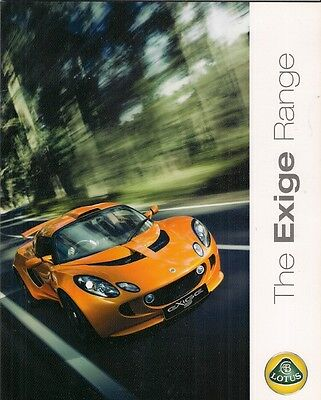 Lotus Exige S 2009-10 UK Market Sales Brochure
