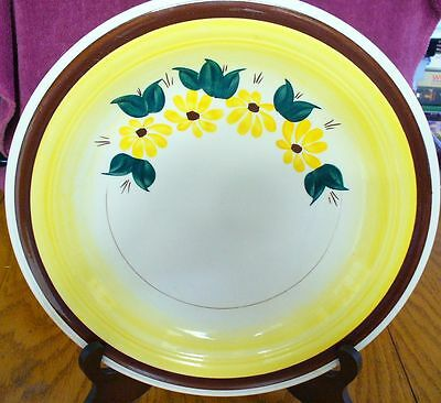 "Vernon Ware Brown Eyed Susan 12"" Round Hand-Painted Chop Plate"
