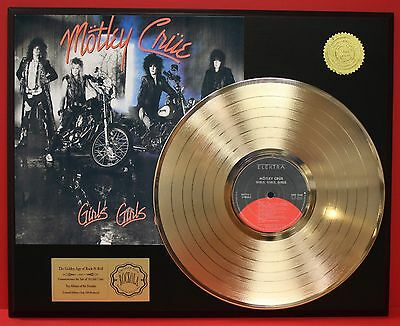 Motley Crue - Girls, Girls, Girls - 24k Gold LP Record Display - USA Ships Free