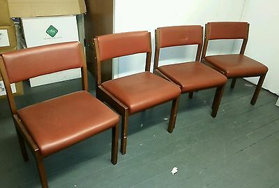 4 x Red leatther Chairs