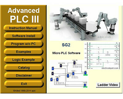 Virtual PLC Ladder Software Programmable Logic Controllers Training Examples