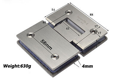 NEW SUS304# Stainless Steel 180° Frameless Shower Door Glass to Glass Hinge