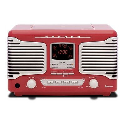 Teac SL-D800BT Red Bluetooth AM/FM CD MP3/WMA USB Streamer with Instant Pairing