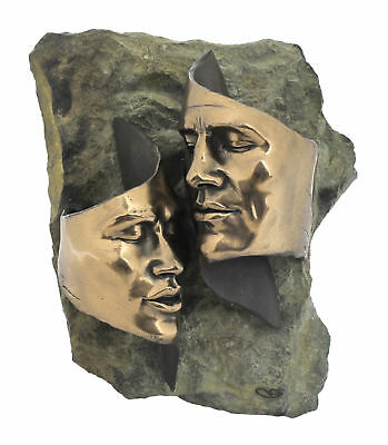 ' TENDER  LOVE ' Stunning Bronze Finished Man & Woman in Love Wall Sculpture