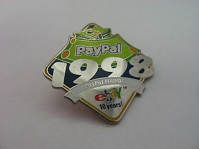 1998 PayPal Founded Ebay 10 Years Celebration Pin