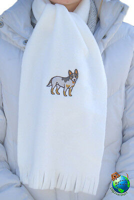 Australian Cattle Dog Scarf Cream Fleece