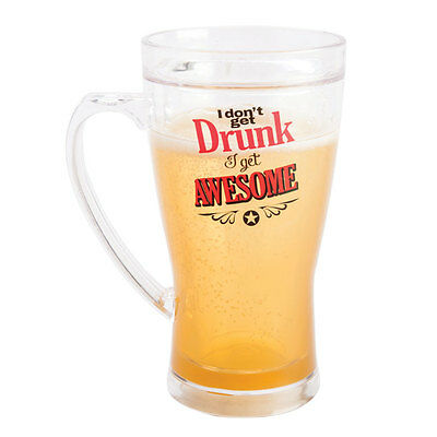 Icy Beer Mug - Keeps Your Drink Cold   glass glasses alcohol frozen novelty