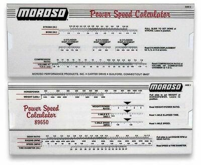 Moroso 89650 Power Speed Calculator Like A Dyno In Your Back Pocket Drag Race