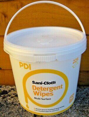 Tub of Multi Surface Detergent Wipes. Qty 225. Stroke//Dementia/Camping/Holiday