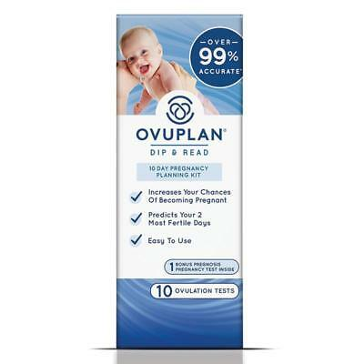 Ovuplan 10-day pregnancy planning kit OVULATION FERTILITY 10 TESTS