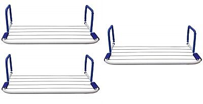3 x 3m Radiator Airer Clothes Towel Laundry Indoor Rack Rail Folding Dryer White