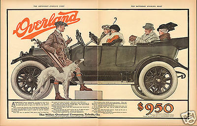 1971 Published Reprint of the Willys Overland 1914 2 Page Print Ad