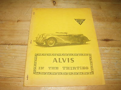 Road Test Book - Alvis in the Thirties.